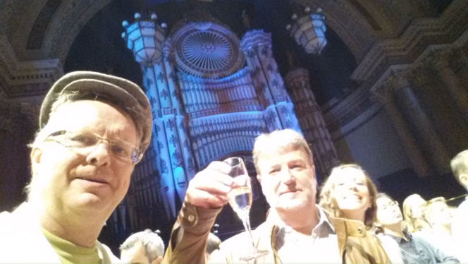 revelers at leeds town hall