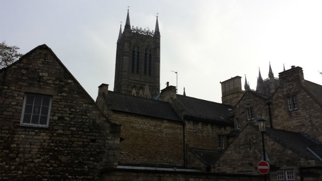 Lincoln Cathedral from Eastgate