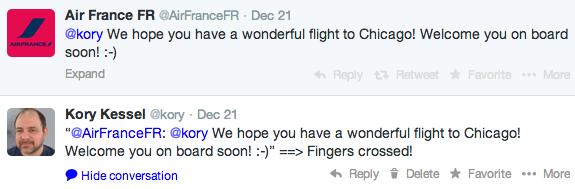 Second Tweet to AF