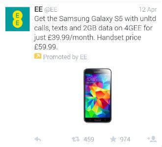 ee deal promoted tweet