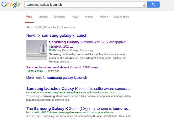 samsung galaxy k launch on google
