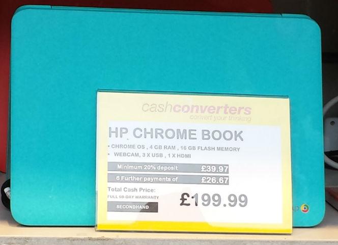 hp cash converters chromebook