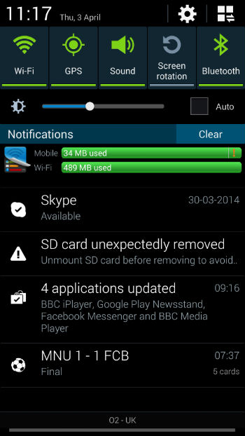 sd card removed