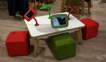kids tablet display at tesco