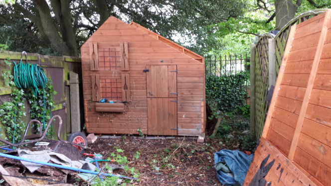 a less partial shed at the bottom of the garden