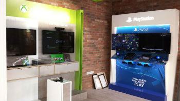 xbox and playstation display at Tesco Lincoln