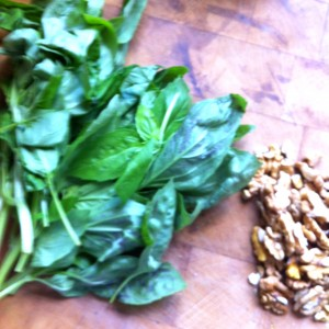 3. Trim and clean plenty of basil. When you think you have enough, double it.