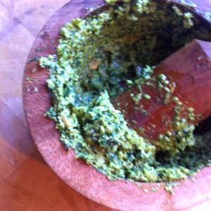 7. Grind until you have a aromatic paste, heady and delicious.