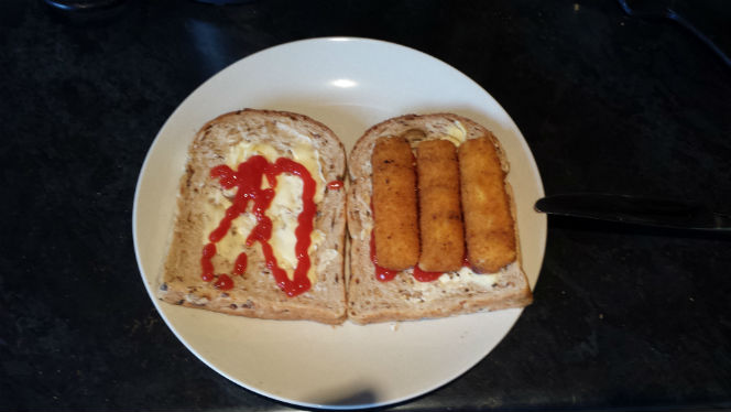 with fish finger