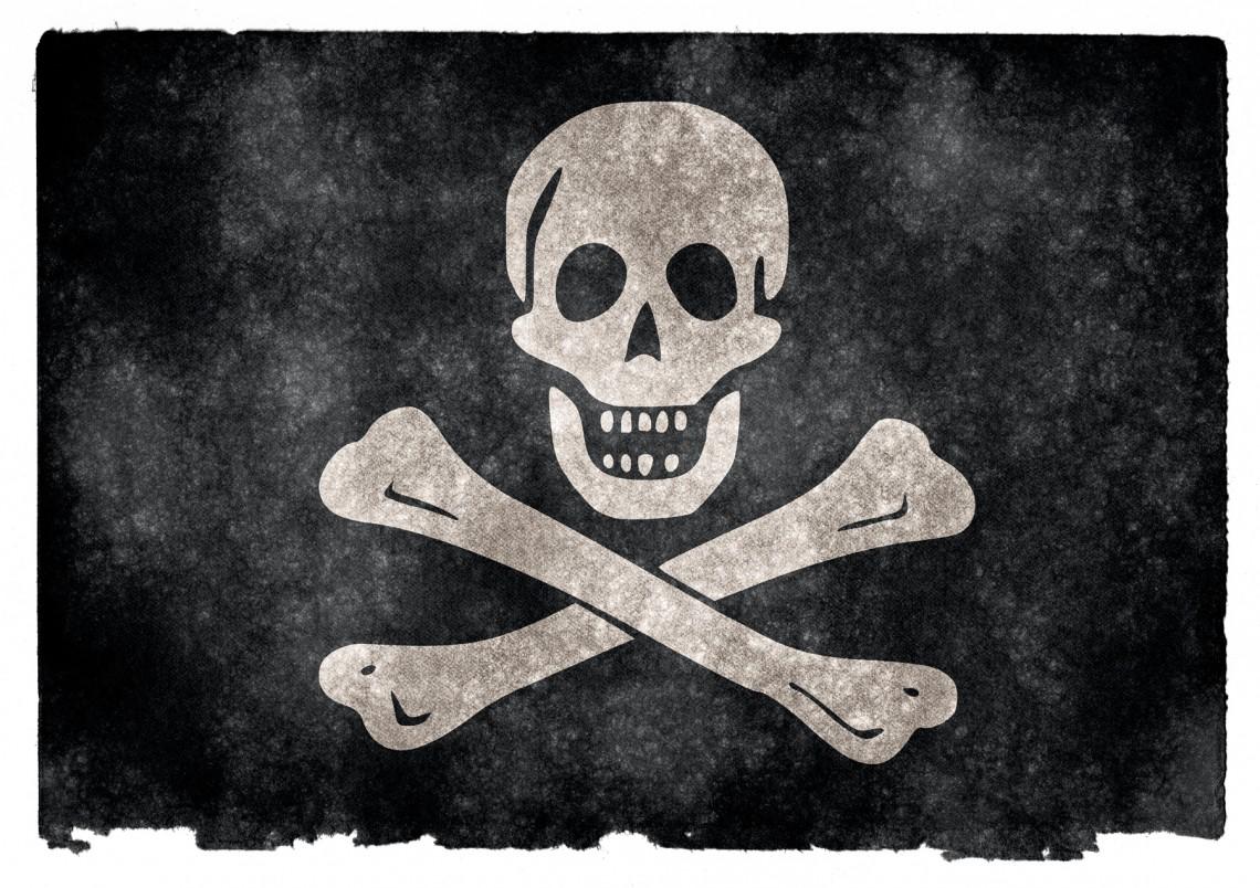 skull & crossbones - broadband internet copyright infringement