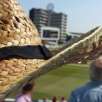hat damaged by cricket ball