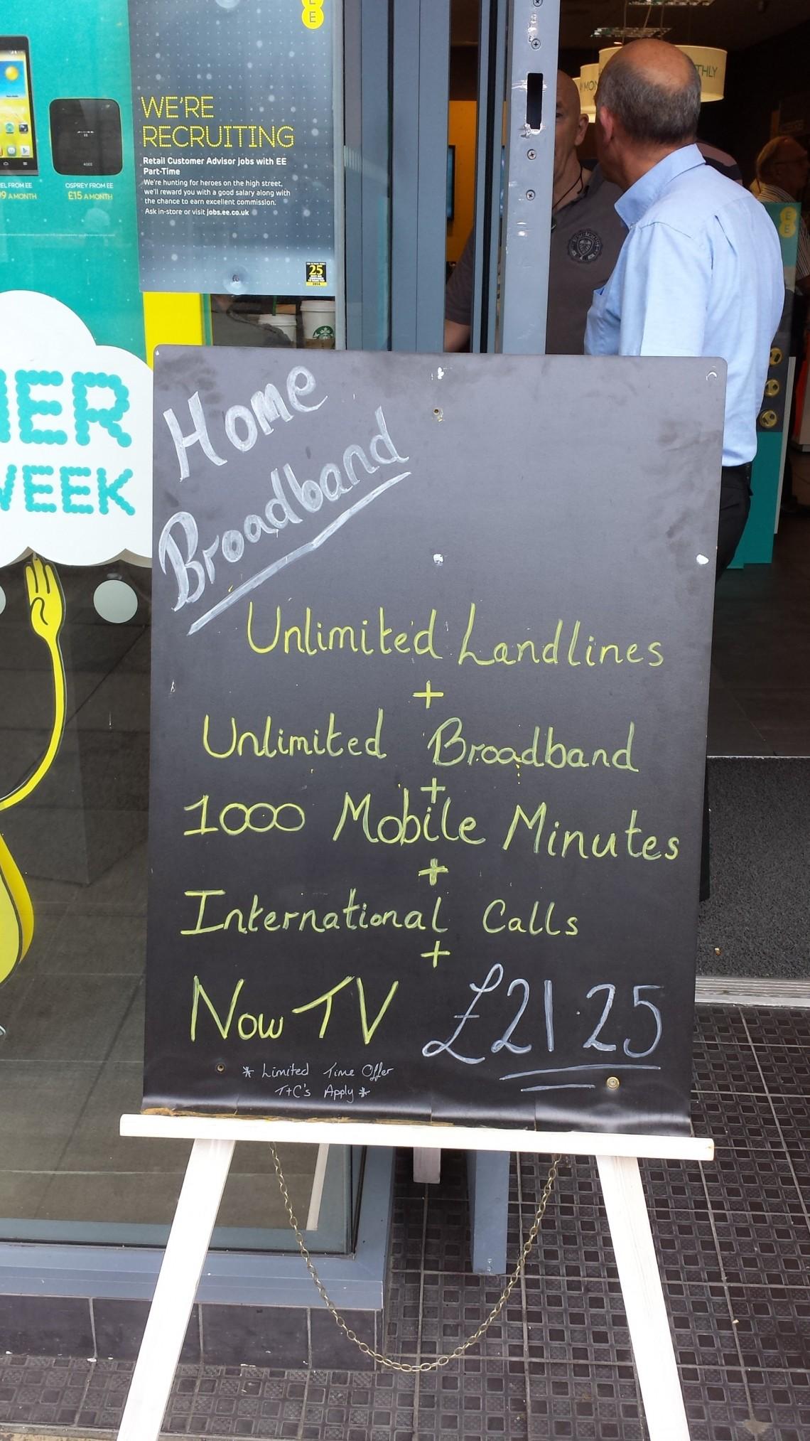 home broadband deals from EE