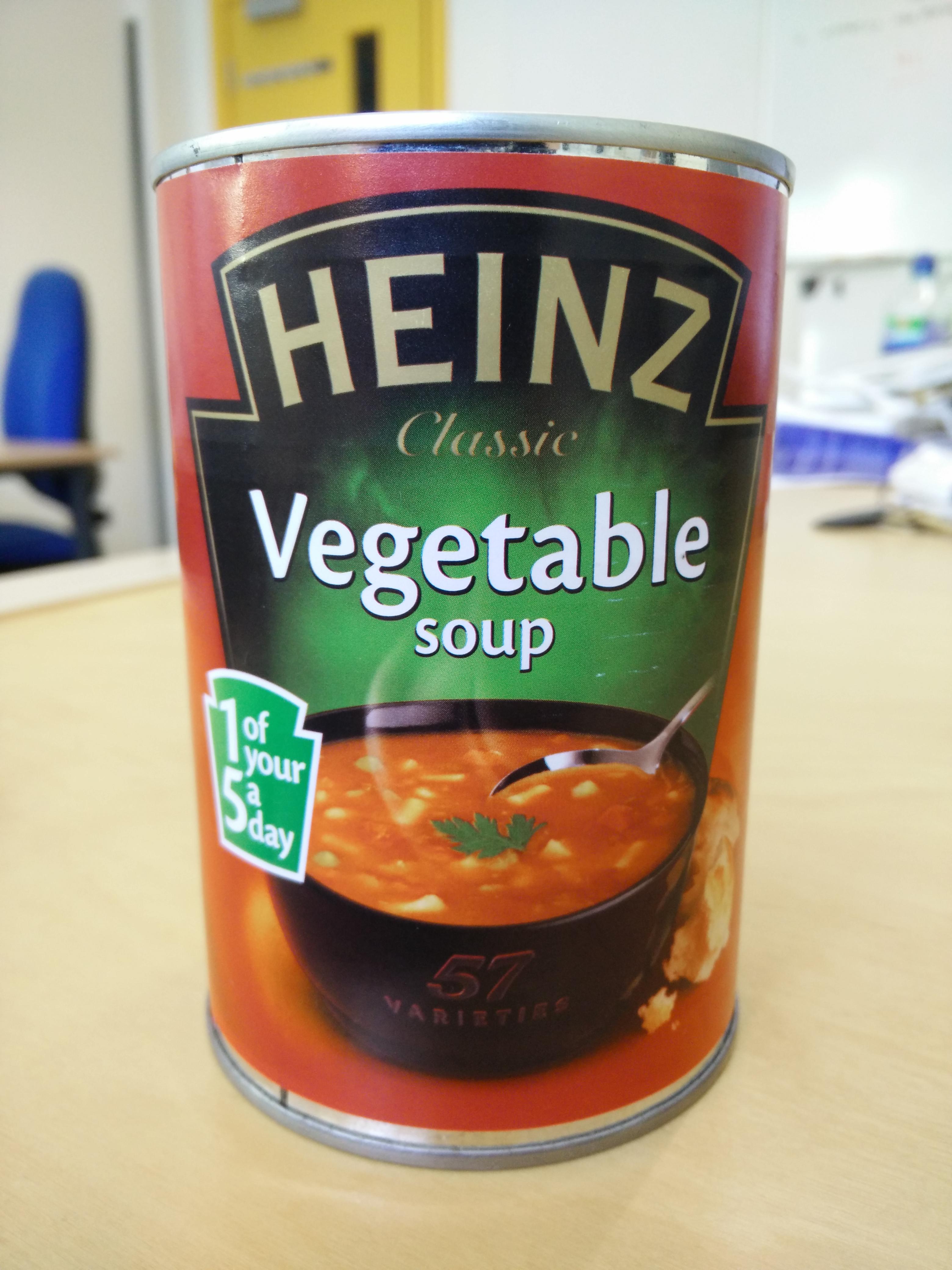 Heinz vegetable soup