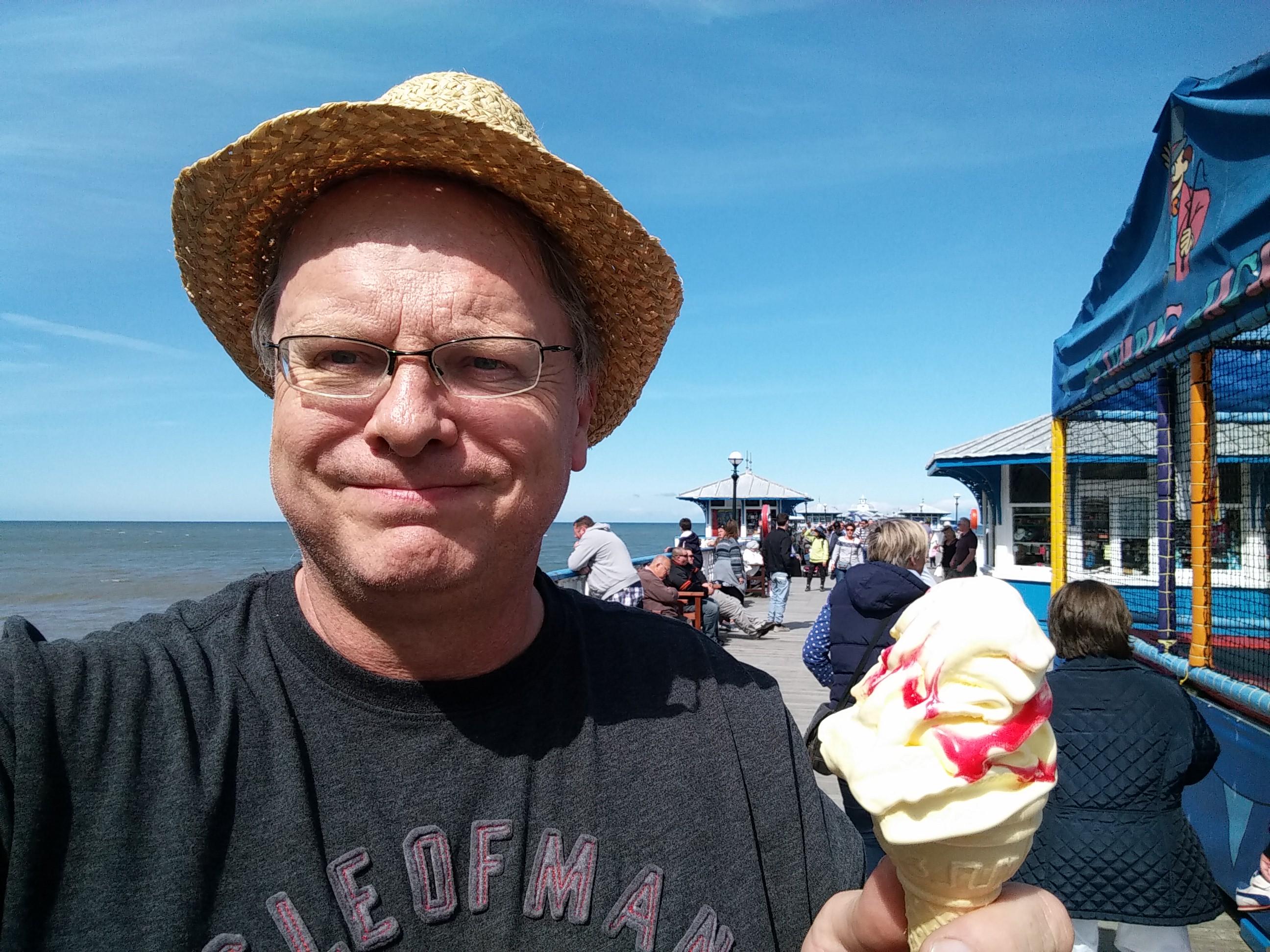 ice cream on Llandudno pier