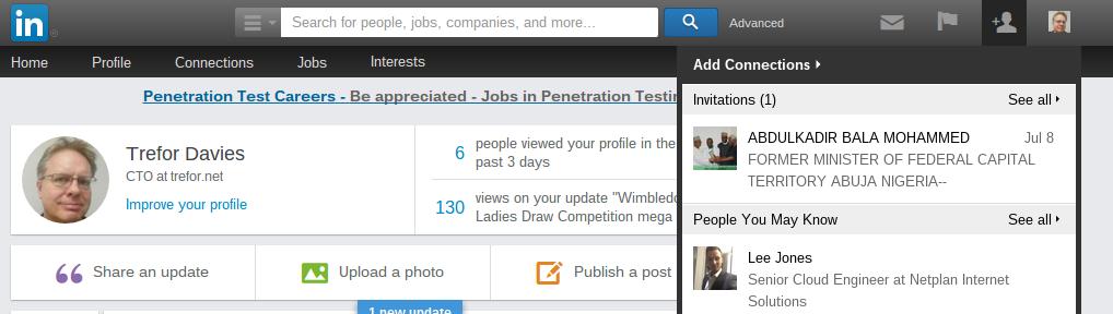 LinkedIn spam