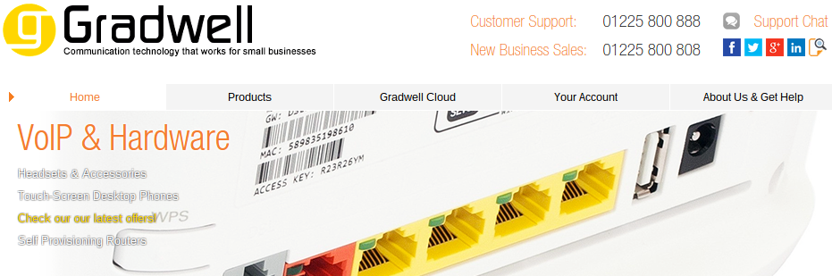 gradwell business telecoms webrtc