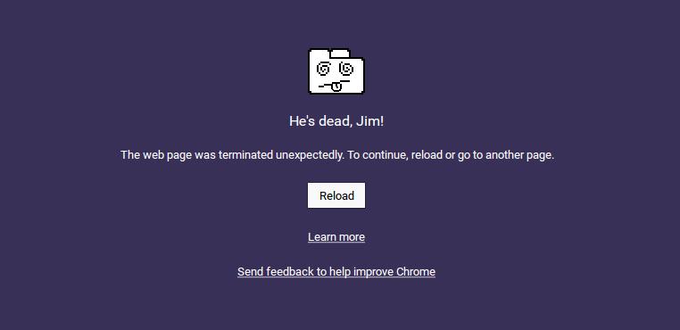 he's dead jim chrome